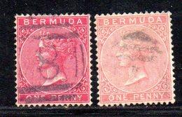 APR384 - BERMUDA 1884,  Yvert N. 18.  Usato  (2380A) . Dent 14 Fil .CA Due Nuance - Bermuda