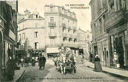 SAINT BRIEUC   = Rue Saint Guillaume Et Place Glais Bizoin. (la Bretagne Pittoresque)       640 - Saint-Brieuc
