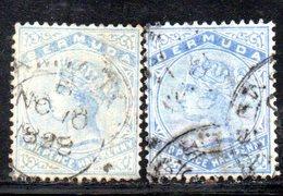 APR385 - BERMUDA 1884,  Yvert N. 21.  Usato  (2380A) . Dent 14 Fil .CA Due Nuance - Bermuda