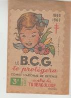 VIGNETTE GRAND FORMAT COMITE NATIONAL DE DEFENSE CONTRE LA TUBERCULOSE 1966/67 - Erinnofilia