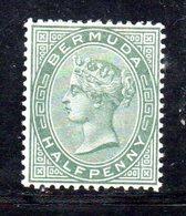 APR428 - BERMUDA 1884,  Yvert N. 17  *  (2380A) . Dent 14 Fil .CA Due Nuance - Bermuda