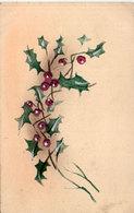 Carte Artisanale  Peinte Main - Houx   (113165) - Peintures & Tableaux