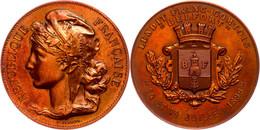 Frankreich, Bronzemedaille (Dm. 40,6 Mm, 33 G), 1899, Von Vernon, Auf Die Stadt Belfort, Av: Kopf Marianne Nach Links, R - Monnaies