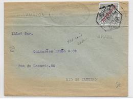 PORTUGAL - 1911 - ENVELOPPE De LISBOA => RIO DE JANEIRO (BRESIL) - Lettres & Documents