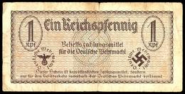 Behelfszahlungsmittel Für Die Deutsche Wehrmacht 1940/1942, 1 Reichspfennig, Ohne Datum, Ohne KN, Ro. 500, Kleiner Einri - Ohne Zuordnung