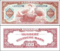 100 Deutsche Mark, 1948, Roter Hunderter, L 8371270 B, Ro. 244, Leichte Gebrauchsspuren, Ein Senkrechter Knick Mittig, E - 1949-…: BRD
