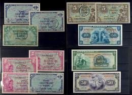 Alliierte Besatzung-Bank Deutscher Länder, Ausgaben Für Westberlin 1948-1953, Kleines Lot Mit Insgesamt 12 Banknoten, Da - 1949-…: BRD