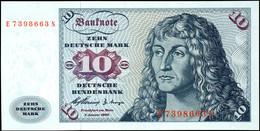 10 Deutsche Mark, Bundesbanknote, 2.1.1960, Serie E 7398663 N, Ro. 263, Erhaltung I., Katalog: Ro. 263 I - 1949-…: BRD