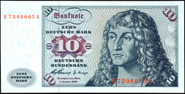 10 Deutsche Mark, Bundesbanknote, 2.1.1960, Serie E 7398665 N, Ro. 263, Erhaltung I., Katalog: Ro. 263 I - 1949-…: BRD