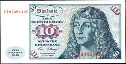 10 Deutsche Mark, Bundesbanknote, 2.1.1980, Serie CJ 9382842 C, Ro. 281, Minimaler Bug Links Am Rand Und Im Seriennummer - 1949-…: BRD