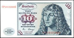 10 Deutsche Mark, Bundesbanknote, 2.1.1980, Serie CP 1315586 G, Ro. 286, Minimaler Bug Links Oben Und Minimales Eselsohr - 1949-…: BRD