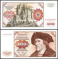 500 Deutsche Mark, Bundesbanknote, 2.1.1980, V 6485893 S, Ro. 290 A, Erhaltung I-II., Katalog: Ro.290a I-II - 1949-…: BRD