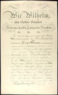 Patenturkunde Zum Fregattenkapitän, Datiert Achilleion Corfu Den 25. April 1912, Mit Kalligraphierter Kopfzeile Und Groß - Documents