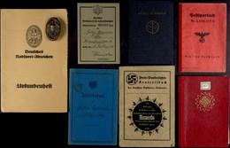 Nachlass Mit Deutsches Radsportabzeichen In Bronze Des VDRV (Vereinigung Deutscher Radsport-Verbände) Mit Herstellerpunz - Books, Magazines  & Catalogs