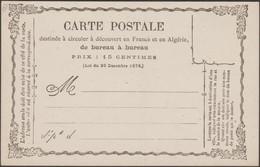 France 1873 Carte Précurseur 8. Neuve Grande Fraîcheur - Postal Stamped Stationery