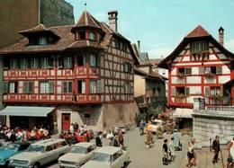 CPM - LUZERN - Hôtel Rebstock ... (voitures) - LU Lucerne