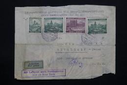 BOHÊME & MORAVIE - Enveloppe Par Avion Pour Les Etats Unis En 1940  , Affranchissement Plaisant Avec Contrôle - L 27923 - Lettres & Documents