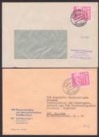 Nachträglich Entwertet, 2 Briefe 1978 Aus Halle Bzw. Karl-Marx-Stadt, Leichtchemie, Wasserversorgung Abwasser - DDR