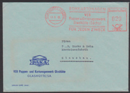 GLASHÜTTE (SACHSEN) AFS =020=, VEB Pappen- Und Kartonagenwerk Rohkartonagen Für Jeden Zweck PAKA, 8.6.63 - [6] Oost-Duitsland