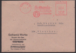GOTHA AFS =024= 7.2.50 Fernbrief Gothania Hochdruckschläuche Sowjetische Akt. Ges. Hörselgau Hanfschlauch - [6] Oost-Duitsland