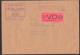 Grün-Kordshagen Post Steinhagen DDR ZKD-Brief 7.5.66 D1 Vertrauliche Dienstsache Rat Der Gemeinde Nach Stralsund - [6] Oost-Duitsland