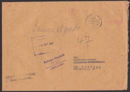 """""""Richtige Anschrift"""" 2 DDR ZKD-Briefe Mit Kontrollstempel, Sammelpost, KSt. VEB Kraftfahrzeug-Instandsetzung Brandenburg - [6] Oost-Duitsland"""