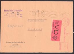 Rostock DDR ZKD-Brief Mit AFS 29.6.65 D1 Vertrauliche Dienstsache Rat Des Bezirkes, Bezirkslandwirtschaftsrat - [6] Oost-Duitsland