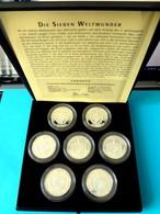 Kuba / Cuba Münzen Coin Coins Moneda Monedas 7 Wonders Of The Ancient World,10 Pesos, Box 7x Silvercoins+certificate - Cuba