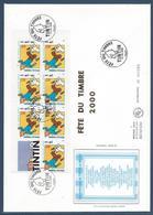 France FDC - Premier Jour - YT Carnet N° 3303 - Grand Format - Tintin - 2000 - FDC