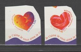 """FRANCE / 1999 / Y&T N° 3220/3221 ** Ou AA 27/28 ** : """"Cœurs Aurélie Baras"""" De Carnet - Les 2 TP - état D'origine - France"""