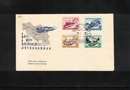 Jugoslawien / Yugoslavia 1953 Michel 724-727 FDC - FDC