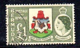APR632 - BERMUDA 1953,  1 Sterlina Yvert N. 148  Usato (2380A) . - Bermuda