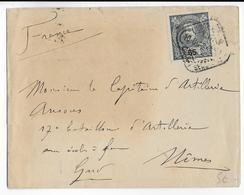 PORTUGAL - 1902 - ENVELOPPE De LISBOA => NIMES (GARD) - Lettres & Documents