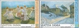 ESLOVENIA 2002 - SLOVENIE - PINTOR MATIJA JAMA - YVERT Nº 373-374** - Slovénie