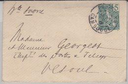 Franz. Indochina - 5 C. Ganzsache Ortsbrief Pnompenh 1906 - Unclassified