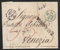 1831 - PARIS A VENEZIA - C.à.d 31 Aout 1831 -  L.F (Lettre Française) , Oct. 60/P.P/C - PORT PAYÉ - Postmark Collection (Covers)