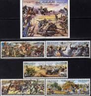Wüstenkämpfe 1980 Libyen Block 49,5x Sets+5ZD ** 12€ Schlacht Mann Gegen Mann Bloque Hoja Blocs Se-tenant Bf Libya - Stamps