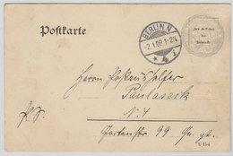 DR - Dienstpostkarte Postamt Berlin N4 1909 Diensteinteilung Packkammer - Germania