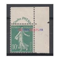 TIMBRE N°188 Type Semeuse Avec Bandelette PHENA NEUF** Côte 65 Euros - Francia