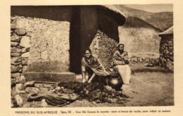 Afrique - Missions Du Sud-Afrique - Une Fille Faisant Le Mortier - C 5658 - Afrique Du Sud