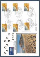 France FDC - Premier Jour - YT Autoadhésif N° 29 - Grand Format - Bonnes Vacances - 2001 - FDC