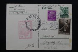 ALLEMAGNE - Entier Postal Patriotique + Complément De Düsseldorf Par Zeppelin En 1939 , Voir Cachets - L 27931 - Covers & Documents