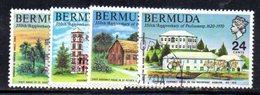 APR638 - BERMUDA 1970, Serie Yvert N. 260/263  Usata  (2380A) . Parlamento - Bermuda