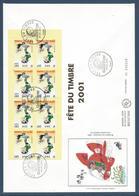 France FDC - Premier Jour - YT Carnet N° 3377 - Grand Format - Gaston Lagaffe - 2001 - FDC