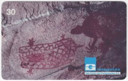 BRASIL G-759 Magnetic Telegoias - Culture, Historic Rock Painting - Used - Brésil