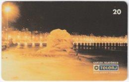 BRASIL G-767 Magnetic TeleRJ - View, Town By Night - Used - Brésil