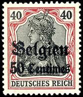 50 C. A. 40 Pf. Friedensdruck, Tadellos Postfrisch, Gepr. Dr. Hochstädter, Mi. 150.-, Katalog: 5Ia ** - Belgien