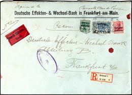 2 Franc 50 C. Auf 2 Mark Landespost Belgien, Mischfrankatur Mit Nr.2 Und 3 Auf Unterfanktiertem R-Eilboten-Brief Der 14. - Belgien