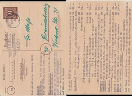 All Bes Ziffer P 952 Priv Zudruck Hoisdorf B Trittau 1946 - Gemeinschaftsausgaben