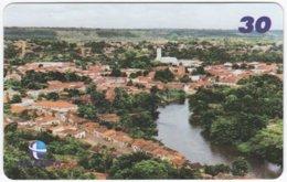 BRASIL H-838 Magnetic Telemar - View, Village - Used - Brésil